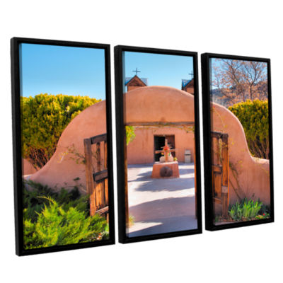 Brushstone Gate to Chimayo 3-pc. Floater Framed Canvas Wall Art