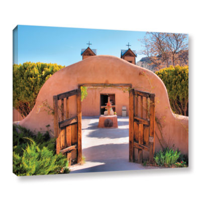 Brushstone Gate to Chimayo Gallery Wrapped CanvasWall Art