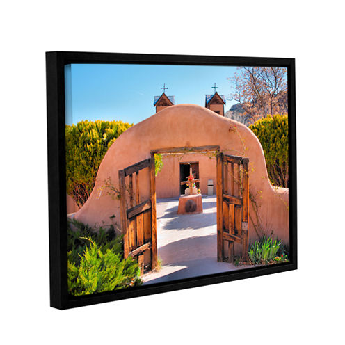 Brushstone Gate to Chimayo Gallery Wrapped Floater-Framed Canvas Wall Art