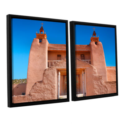 Brushstone Gate to San Jose De Garci 2-pc. FloaterFramed Canvas Wall Art