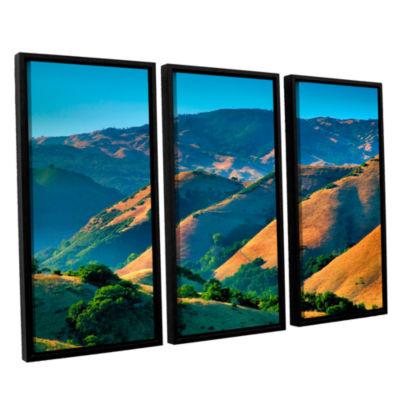 Brushstone Golden Hills 3-pc. Floater Framed Canvas Wall Art