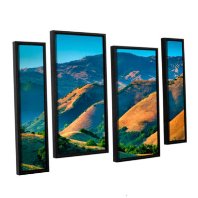 Brushstone Golden Hills 4-pc. Floater Framed Staggered Canvas Wall Art