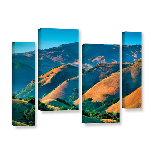 Brushstone Golden Hills 4-pc. Gallery Wrapped Staggered Canvas Wall Art