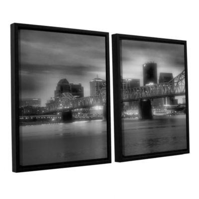 Brushstone Gritty City 2-pc. Floater Framed CanvasWall Art