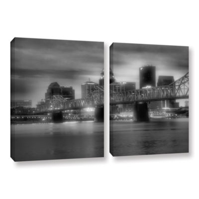 Brushstone Gritty City 2-pc. Gallery Wrapped Canvas Wall Art