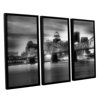 Brushstone Gritty City 3-pc. Floater Framed CanvasWall Art