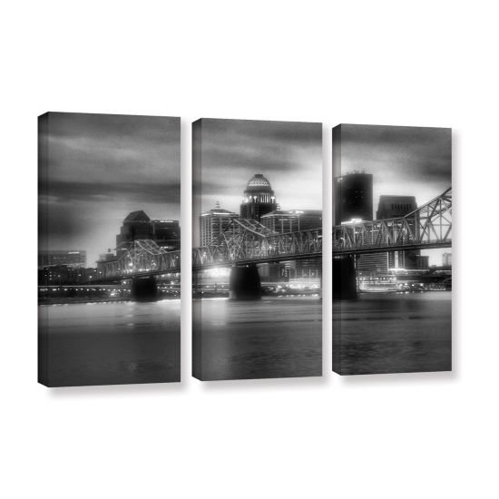 Brushstone Gritty City 3-pc. Gallery Wrapped Canvas Wall Art
