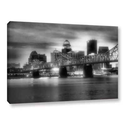 Brushstone Gritty City Gallery Wrapped Canvas WallArt