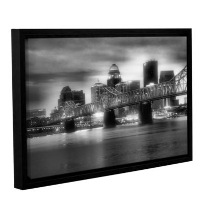 Brushstone Gritty City Gallery Wrapped Floater-Framed Canvas Wall Art
