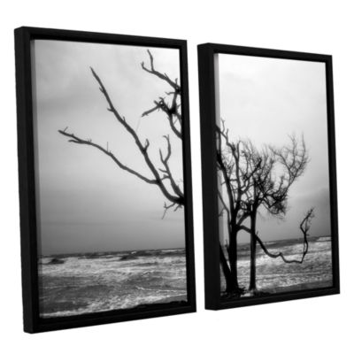 Brushstone Hanging On 2-pc. Floater Framed CanvasWall Art