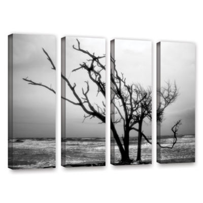 Brushstone Hanging On 4-pc. Gallery Wrapped CanvasWall Art