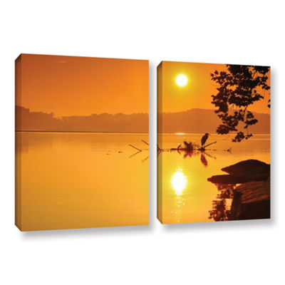 Brushstone Hatteras Pools and Bridge 2-pc. GalleryWrapped Canvas Wall Art