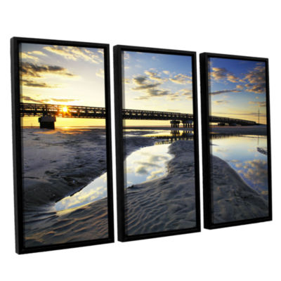 Brushstone Hatteras Pools and Bridge 3-pc. FloaterFramed Canvas Wall Art