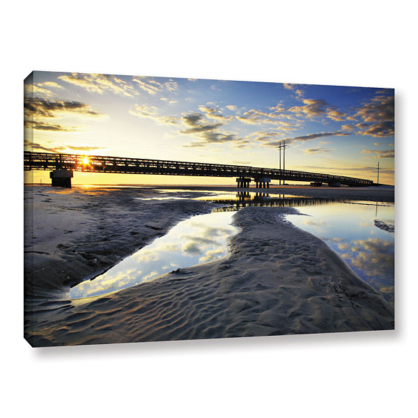 Brushstone Hatteras Pools and Bridge Gallery Wrapped Canvas Wall Art