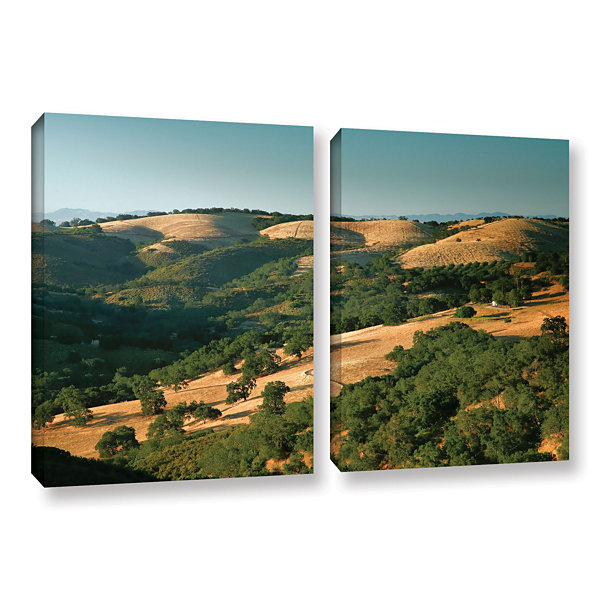 Brushstone Hills of California 2-pc. Gallery Wrapped Canvas Wall Art