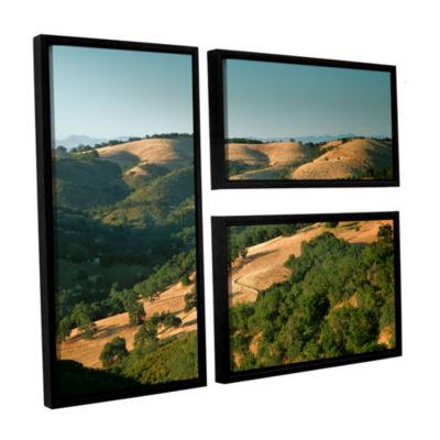 Brushstone Hills of California 3-pc. Flag FloaterFramed Canvas Wall Art