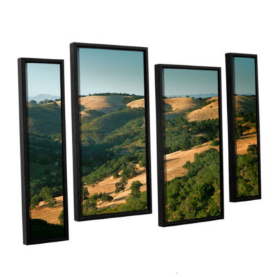Brushstone Hills of California 4-pc. Floater Framed Staggered Canvas Wall Art