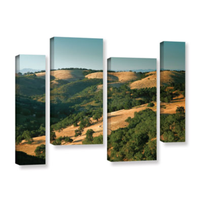 Brushstone Hills of California 4-pc. Gallery Wrapped Staggered Canvas Wall Art