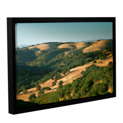 Brushstone Hills of California Gallery Wrapped Floater-Framed Canvas Wall Art