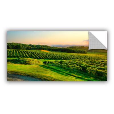 Brushstone Hill-Top Vineyard Removable Wall Decal
