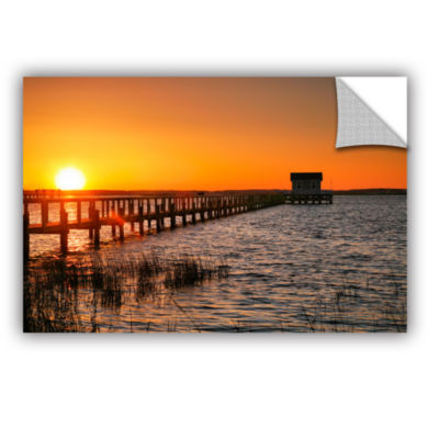 Brushstone House at the End of the Pier RemovableWall Decal