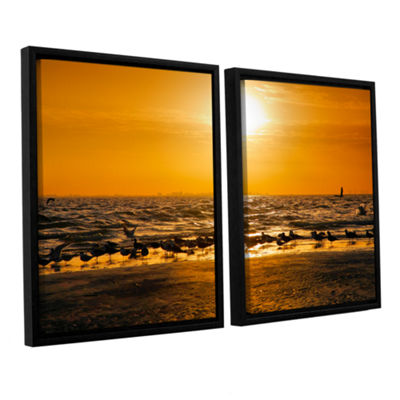 Brushstone In for the Landing 2-pc. Floater FramedCanvas Wall Art