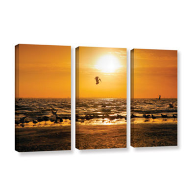 Brushstone In for the Landing 3-pc. Gallery Wrapped Canvas Wall Art