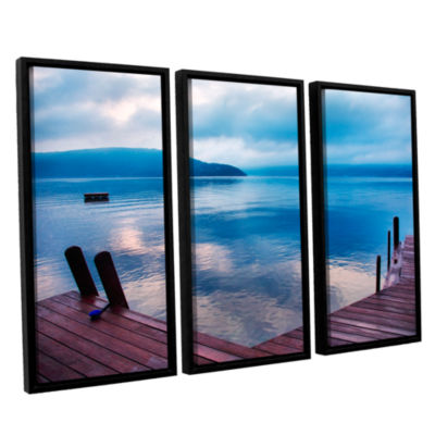 Brushstone Interlude Filtered 3-pc. Floater FramedCanvas Wall Art