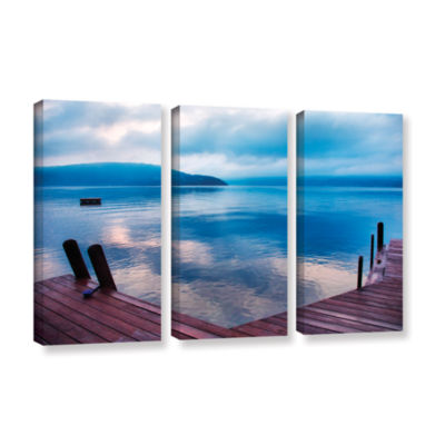 Brushstone Interlude Filtered 3-pc. Gallery Wrapped Canvas Wall Art
