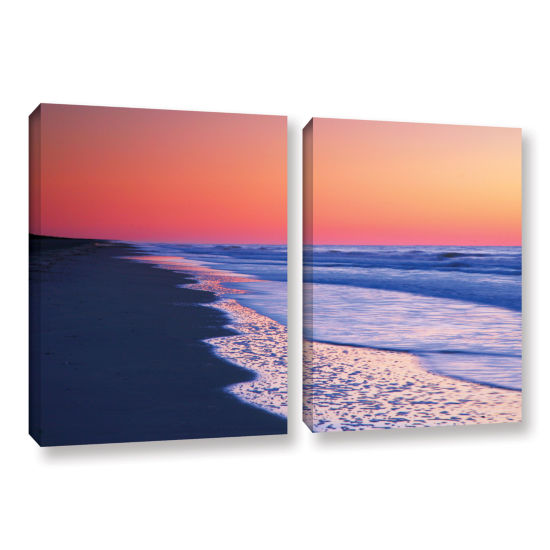 Brushstone Lavender Sea I 2-pc. Gallery Wrapped Canvas Wall Art