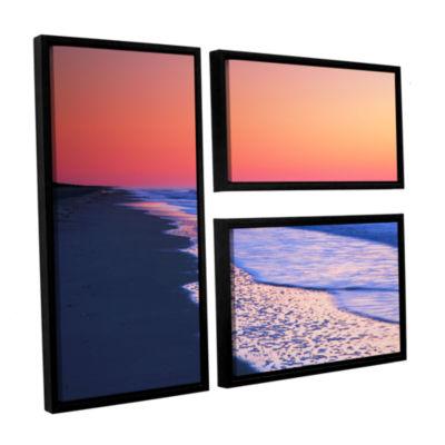 Brushstone Lavender Sea I 3-pc. Flag Floater Framed Canvas Wall Art