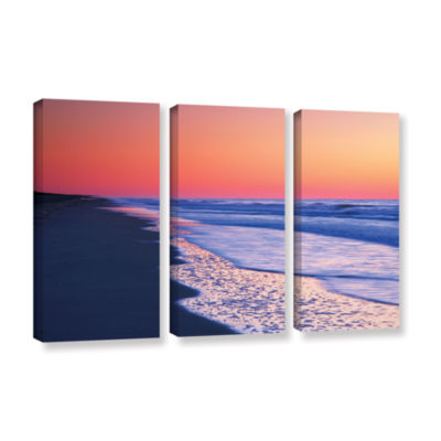 Brushstone Lavender Sea I 3-pc. Gallery Wrapped Canvas Wall Art