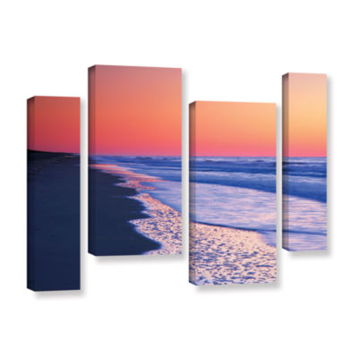 Brushstone Lavender Sea I 4-pc. Gallery Wrapped Staggered Canvas Wall Art
