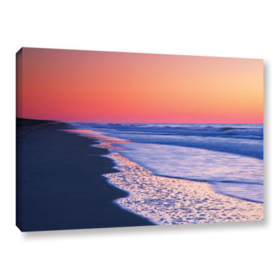 Brushstone Lavender Sea I Gallery Wrapped Canvas Wall Art