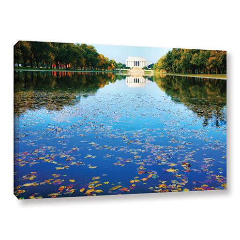 Brushstone Lincoln Memorial and Reflecting Pool IGallery Wrapped Canvas Wall Art