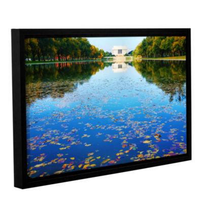 Brushstone Lincoln Memorial and Reflecting Pool IGallery Wrapped Floater-Framed Canvas Wall Art
