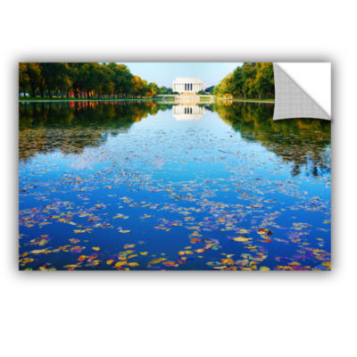 Brushstone Lincoln Memorial and Reflecting Pool IRemovable Wall Decal