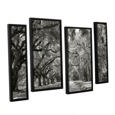 Brushstone Live Oak Avenue 4-pc. Floater Framed Staggered Canvas Wall Art