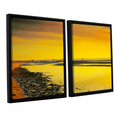 Brushstone Mellow Yellow Morning 2-pc. Floater Framed Canvas Wall Art