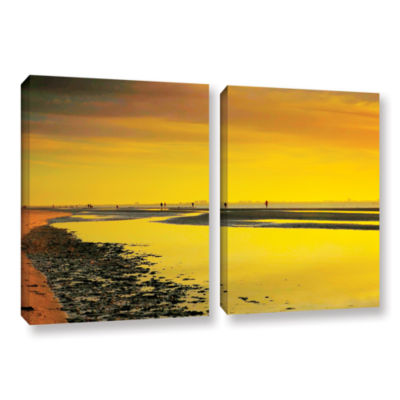Brushstone Mellow Yellow Morning 2-pc. Gallery Wrapped Canvas Wall Art
