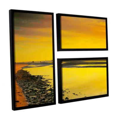 Brushstone Mellow Yellow Morning 3-pc. Flag Floater Framed Canvas Wall Art