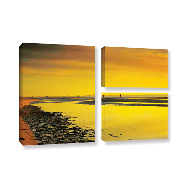 Brushstone Mellow Yellow Morning 3-pc. Flag Gallery Wrapped Canvas ...