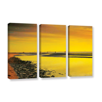 Brushstone Mellow Yellow Morning 3-pc. Gallery Wrapped Canvas Wall Art