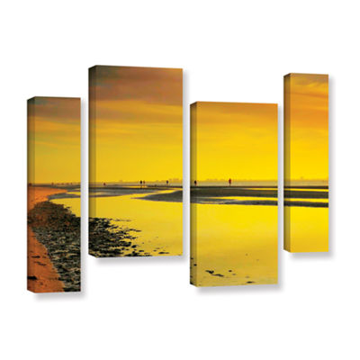 Brushstone Mellow Yellow Morning 4-pc. Gallery Wrapped Staggered Canvas Wall Art