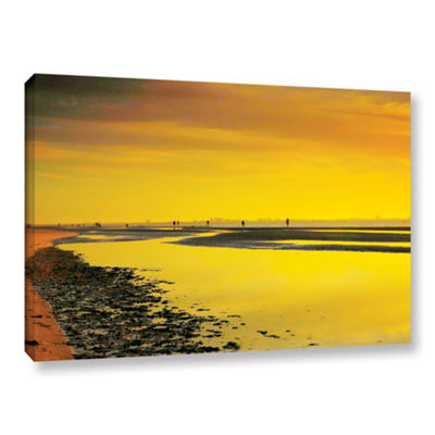 Brushstone Mellow Yellow Morning Gallery Wrapped Canvas Wall Art