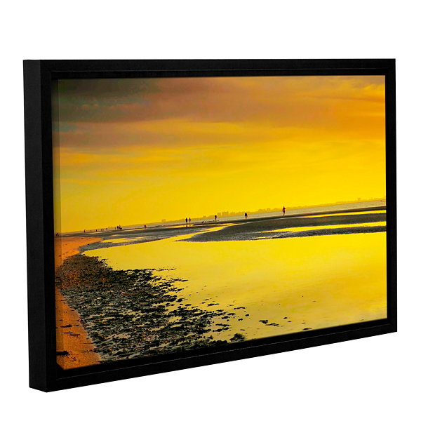 Brushstone Mellow Yellow Morning Gallery Wrapped Floater-Framed Canvas Wall Art