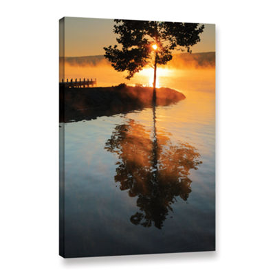 Brushstone Mists on Fire Gallery Wrapped Canvas Wall Art