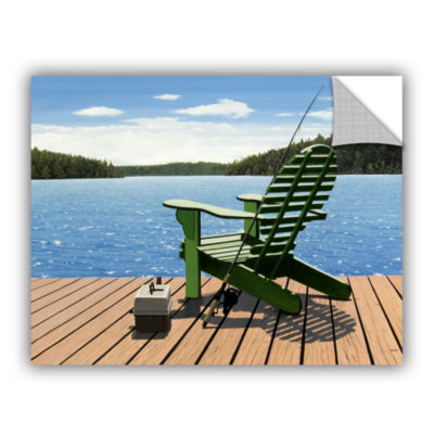 Brushstone Fishing Chair Removable Wall Decal