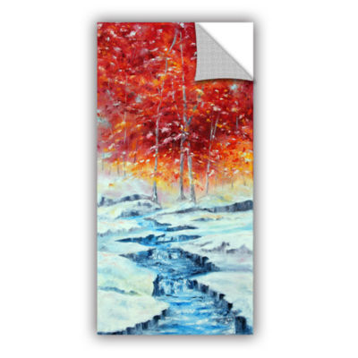Brushstone First Snow Removable Wall Decal