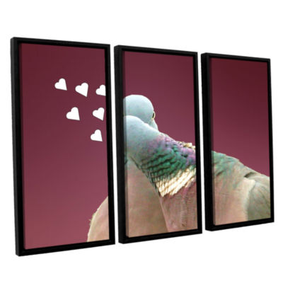 Brushstone First Kiss 1 3-pc. Floater Framed Canvas Wall Art